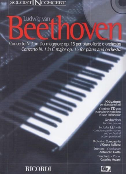 Beethoven, Ludwig van : Concerto n. 1 in Do maggiore per Pianoforte e Orchestra, riduzione per 2 Pianoforti + CD