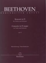 Beethoven, L. van : Concerto op. 61, riduzione per Violino e Pianoforte. Urtext