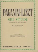 Liszt, F. : 6 Grandi Studi da Paganini (con esercizi preparatori), per Pianoforte