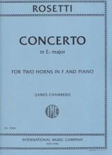 Rosetti, F.A. : Concerto in mi bemolle per 2 Corni e Orchestra, riduzione per 2 Corni e Pianoforte (Chambers)