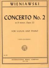 Wieniawski, H. : Concerto in re minore n. 2 op. 22 per Violino e Orchestra, riduzione per Violino e Pianoforte