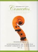 Seitz, F. : Concerto nr. 2 op. 13 in sol, per Violino e Pianoforte
