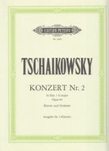 Tchaikovsky, Pyotr Il'yich : Concerto n. 2 op. 44 per Pianoforte e Orchestra, riduzione per 2 Pianoforti