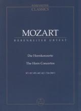 Mozart, Wolfgang Amadeus : Concerti per Corno. Partitura tascabile. Urtext