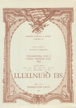 Boccherini, L. : Quintetti op. 27 nn. 1-6, prima versione per 2 Violini, Viola e 2 Violoncelli. Partitura tascabile