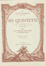 Boccherini, L. : Quintetti op. 27 nn. 1-6, seconda versione per 2 Violini, 2 Viole e Violoncello. Partitura tascabile