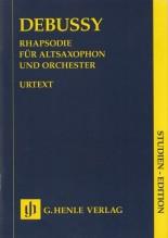 Debussy, Claude : Rapsodia per Sax e Orchestra. Partitura tascabile. Urtext