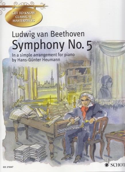 Beethoven, L. v. : Sinfonia nr. 5, arrangiamento facilitato per Pianoforte