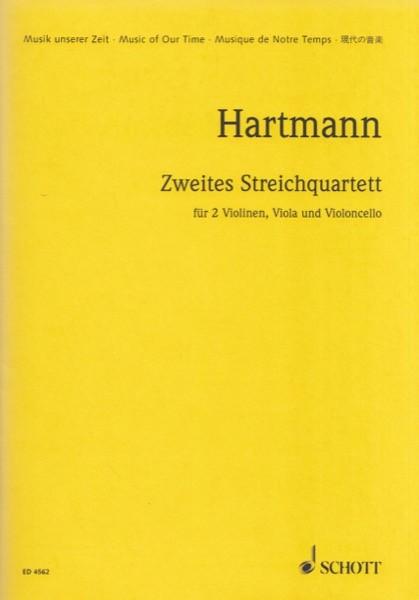 Hartmann, K.A. : 2° string quartet. Partitura tascabile