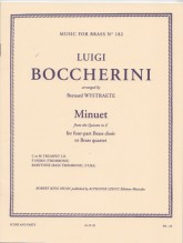 Boccherini, L. : Minuetto, dal Quintetto in mi. Arrangiamento per Quartetto di Ottoni. Set parti