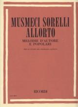 AA.VV. : Melodie d'autoree popolari, per lo studio del solfeggio cantato