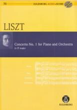 Liszt, Franz : Concerto per Pianoforte e Orchestra nr. 1. Partitura tascabile + Cd