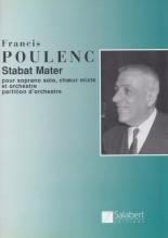 Poulenc, F. : Stabat Mater, per Soprano, Coro misto e Orchestra. Partitura