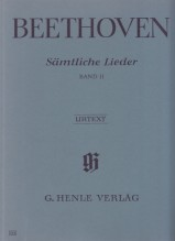 Beethoven, L. van : Complete Songs for Voice and Piano, vol. II. Urtext