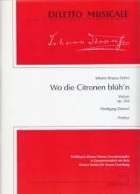 Strauss, J. : Wo die Citronen blüh'n. Walzer op. 364. Partitura