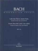 Bach, J.S. : Cantata BWV 143, Lobe den Herrn, meine Seele. Per Soli, Coro e Orchestra. Partitura tascabile. Urtext