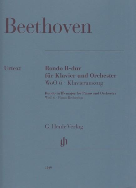 Beethoven, Ludwig van : Rondo in si per Pianoforte e Orchestra, WoO 6. Riduzione per 2 Pianoforti. Urtext