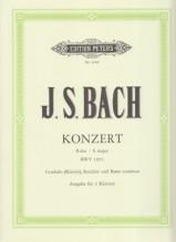 Bach, J.S. : Concerto BWV 1053, per Clavicembalo e Orchestra d'archi, riduzione per 2 Clavicembali