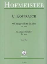 Kopprasch, C. : 60 Studi scelti per Corno, vol. I
