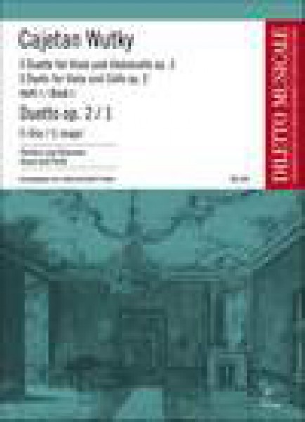 Wutky, C. : Duetto in C-Dur op. 2/1, for Viola and Cello