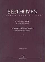 Beethoven, L. van : Concerto n. 1 op. 15 per Pianoforte e Orchestra. Partitura. Urtext