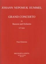 Hummel, Johann Nepomuk : Gran Concerto per Fagotto e Orchestra, riduzione per Fagotto e Pianoforte