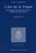 Leonhardt, G. : L'Art de la Fugue. Dernière Ouvre de Bach pour le Clavecin