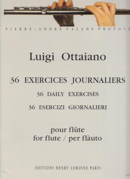 Ottaiano, Luigi : 36 Esercizi giornalieri per Flauto
