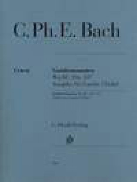 Bach, C.Ph.E. : Gamba Sonatas Wq88, 136, 137, for Viola da gamba (Viola) and Harpsichord. Urtext