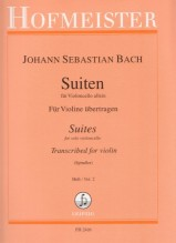 Bach, J.S. : 6 Suites BWV 1007-1012 per Violino, dall'originale per Violoncello. Parte II