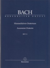 Bach, J.S. : Himmelfahrts-Oratorium, BWV 11. Partitura tascabile. Urtext