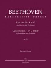 Beethoven, L. van : Concerto n. 4 op. 58 per Pianoforte e Orchestra, riduzione per 2 Pianoforti. Urtext