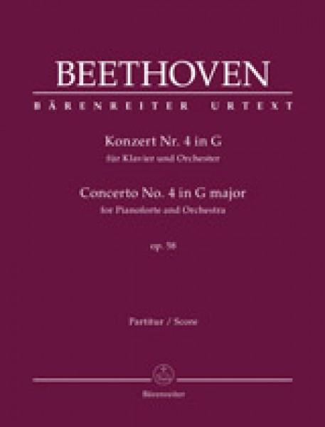 Beethoven, Ludwig van : Concerto n. 4 op. 58 per Pianoforte e Orchestra, riduzione per 2 Pianoforti. Urtext
