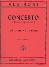 Albinoni, T. : Concerto in re minore op. 9 nr. 2, riduzione per Oboe e Pianoforte