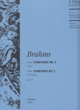 Brahms, J. : Sinfonia n. 2 in re op. 73. Partitura. Urtext
