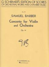 Barber, S. : Concerto op. 14, per Violino e Orchestra. Partitura