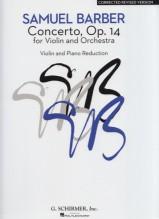 Barber, S. : Concerto op. 14, per Violino e Orchestra. Riduzione per Violino e Pianoforte