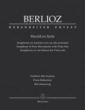 Berlioz, H. : Harold en Italie. Symphonie en 4 parties avec un Alto principal. Riduzione per Viola e Pianoforte. Urtext