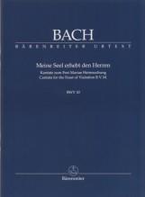 Bach, J.S. : Cantata BWV 10, Meine Seele erhebt den Herren. Partitura tascabile. Urtext