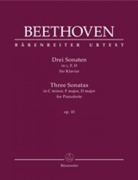 Beethoven, L. van : 3 Sonate op. 10, per Pianoforte. Urtext