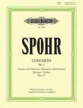 Spohr, Louis : Concerto n. 2 op. 57, per Clarinetto e Orchestra, riduzione per Clarinetto e Pianoforte