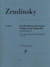 Zemlinsky, A. : Trio in re minore op. 3, per Pianoforte, Clarinetto (Violino) e Violoncello. Urtext