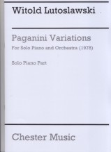 Lutoslawski, Witold : Paganini Variations for Solo Piano and Orchestra. Solo Piano Part