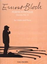 Bloch, E. : Poème Mistique (Sonata nr. 2), per Violino e Pianoforte