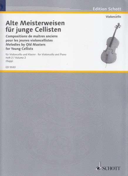 AA.VV. : Melodies by Old Masters for Young Cellists, vol. 2