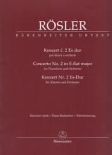 Rösler, J.J. : Concerto nr. 2 per Pianoforte e Orchestra, riduzione per 2 pianoforti. Urtext