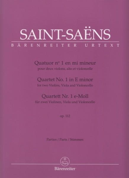 Saint-Saens, C. : Quartetto d'Archi n. 1 op. 112, per 2 Violini, Viola e Violoncello. Set parti. Urtext