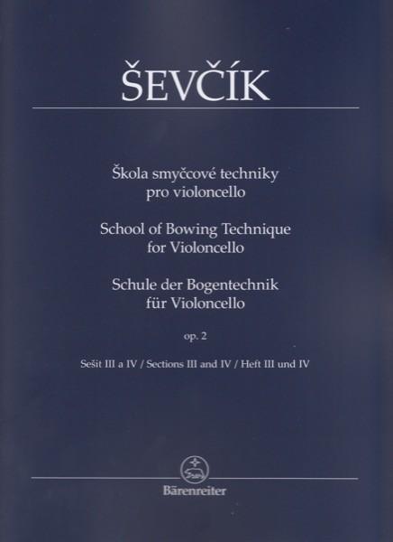 Sevcik, O. : Scuola del meccanismo dell'archetto op. 2 parte III e IV, per Violoncello