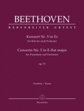 Beethoven, L. van : Concerto n. 5 op. 73 per Pianoforte e Orchestra. Partitura. Urtext