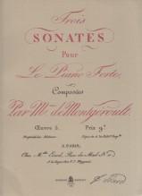 Montgeroult, Hélène de  : 3 Sonates pour le pianoforte opus 5. Facsimile